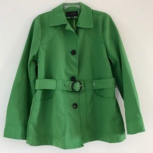 Banana Republic grass green belted trench coat